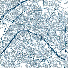 Gallery Print  Stadtplan von Paris - 44spaces