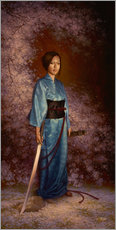 Wandsticker  The Blue Kimono - Christophe Vacher
