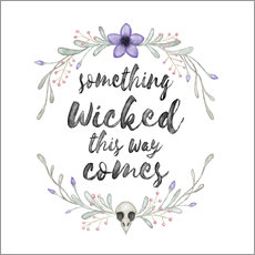 Wandsticker Something wicked