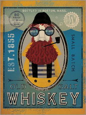 Wandsticker  Seemann IV Old Salt Whiskey - Ryan Fowler