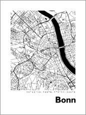Gallery Print  Stadtplan von Bonn - 44spaces