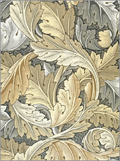 Wandaufkleber  Akanthus - William Morris