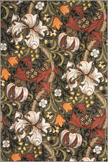 Wandsticker  Goldene Lilie - William Morris