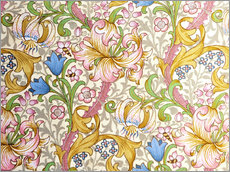 Wandaufkleber  Goldene Lilie - William Morris