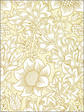 Wandsticker  Sonnenblume - William Morris