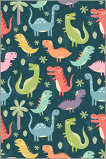 Gallery Print  Bunte Dinosaurier - Kidz Collection
