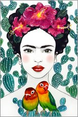 Gallery Print  Fridas Lovebirds - Mandy Reinmuth