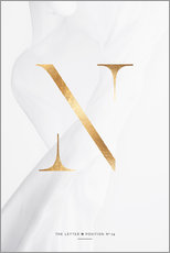 Gallery Print  GOLD LETTER COLLECTION N - Stephanie Wünsche