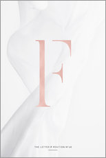 Gallery Print  ROSEGOLD LETTER COLLECTION F - Stephanie Wünsche