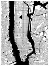 Gallery Print  New York USA Karte - Main Street Maps