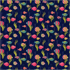 Wandsticker  Fish Pattern - DejaReve