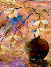 Gallery Print  Abstract vase with flowers