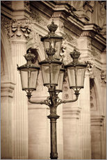 Wandsticker  Lamp posts and columns at the Louvre Palace, Louvre Museum, Paris, France. - age fotostock