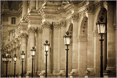 Gallery Print  Lamp posts and columns at Louvre - age fotostock