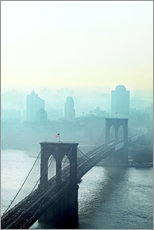 Gallery Print  Brooklyn Bridge in turquoise - Johner