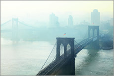 Wandsticker  Brooklyn Bridge im Morgengrauen - Johner
