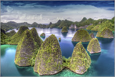 Wandsticker  Raja Ampat in Indonesien - Jones & Shimlock