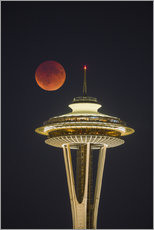 Gallery Print  Blutmond über Seattle - Gary Luhm