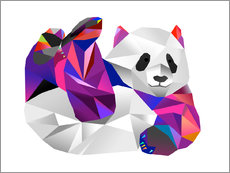 Wandsticker  Pauline Panda - Miss Coopers Lounge