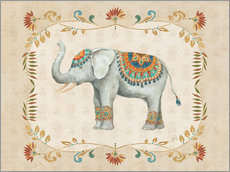 Wandsticker Elephant Walk III