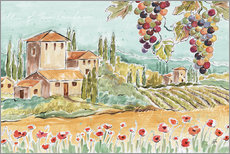 Wandsticker  Tuscan Breeze I - Daphne Brissonnet