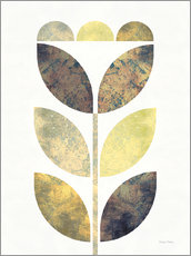 Wandsticker  Golden Flower I - Michael Mullan