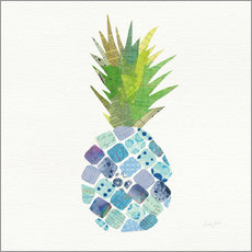 Wandsticker  Tropische Ananas II - Courtney Prahl
