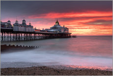 Gallery Print  Eastbourne Pier und feuriger roter Himmel - Lee Frost