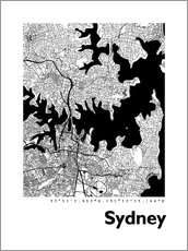 Gallery Print  Stadtplan von Sydney - 44spaces