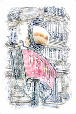 Gallery Print  Métro-Schild in Paris - Peter Roder