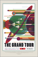 Gallery Print  Retro Space Travel ? The Grand Tour