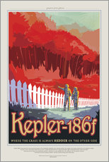 Wandsticker  Retro Space Travel - Kepler186f
