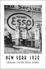 Gallery Print  Historisches New York - Gasoline Station Tenth Avenue, Manhattan - Christian Müringer