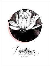 Wandsticker  Lotus Motivation - Sonia Nezvetaeva
