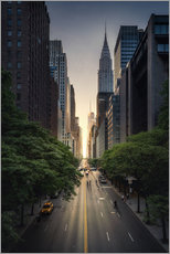 Wandsticker  New York City Sonnenuntergang - Dennis Fischer