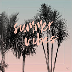 Wandsticker  summer vibes - m.belle