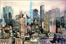 "Gallery Print  New York, Murray Hill ""Chrysler Building"" - Johann Pickl"