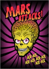 Gallery Print  Mars Attacks! movie art inspired - 2ToastDesign