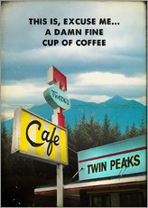 Gallery Print  Twin Peaks vintage twede's cafe art - 2ToastDesign