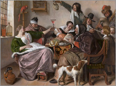 Gallery Print  As Old Sing, So Pipe the Young - Jan Havicksz. Steen