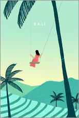 Premium-Poster Bali Illustration