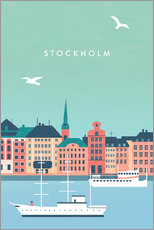 Premium-Poster Stockholm Illustration
