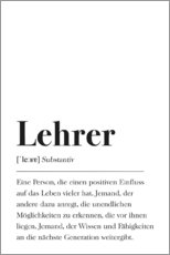 Premium-Poster  Lehrer Definition - Pulse of Art