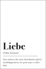 Premium-Poster  Liebe Definition - Pulse of Art