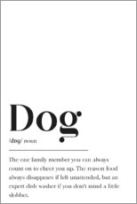 Premium-Poster  Dog Definition (Englisch) - Pulse of Art