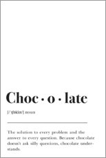 Poster  Chocolate Definition - Johanna von Pulse of Art