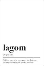 Premium-Poster  Lagom Definition (Englisch) - Pulse of Art