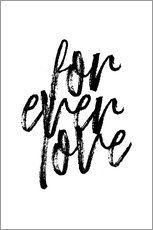 Premium-Poster  Forever love - Martina illustration