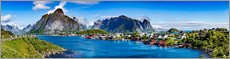 Hartschaumbild  Lofoten Archipel - Panorama - Art Couture