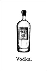 Holzbild  Vodka. - Typobox